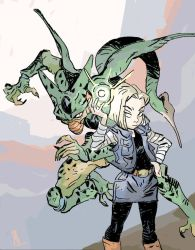 Android 18 and Imperfect Cell by theintrovert
