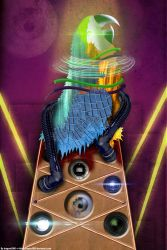 Big Techno Parrot Head Tower Is Watching You by aragorn3000