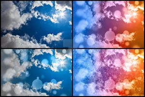 Bokeh Sunburst Sky - Exclusive Stock Pack by boldfrontiers