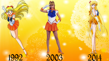 Sailor Venus Over The Years by FlyingPrincess