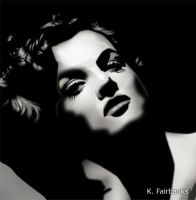 Jane Russell Black and White (digital drawing) by eyeqandy