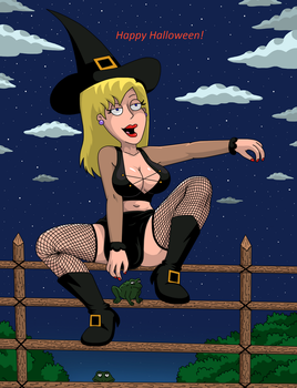 Sexy Witch Connie D'Amico Censored by YuraofthehairFan