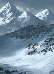 Winter landscape digital painting by ElyGraphic