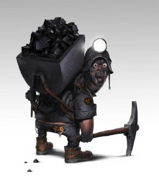 coal miner by maykrender