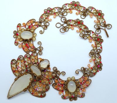 Sita, Rise from Ashes - Necklace by DreamsOfGems