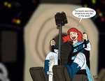 Ariel Aboard the Millennium Falcon by BenJJedi