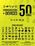 Comunication + Devices: 50 Icons by doghead