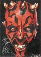 Darth Maul autographed PSC by jenchuan