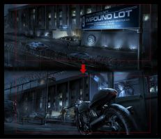 TRON: Legacy - Police station by barontieri