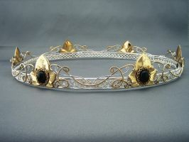 Bridal Coronet Headpiece by ElnaraNiall