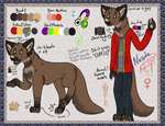Nesda Ref Sheet (Now with scars!) by MonsterMeds