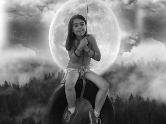 Swing to the moon by KissThyLips