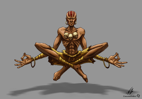STREET FIGHTER II: Dhalsim (COLOR) by CrescentDebris
