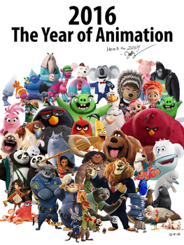 2016 The Year of Animation by 70Jack90