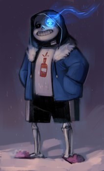 Sans doodle by Warallin