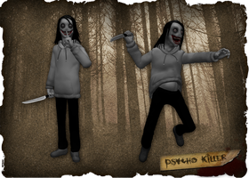 Creepypasta Series Addendum: Psycho Killer by dimelotu