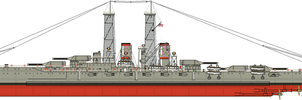 Oceanic Navy Southern Pacific Class Battleship by Lapeer