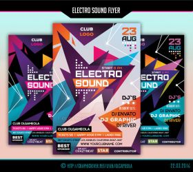 Electro Sound Flyer Template #2 by olgameola