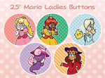 Mario Ladies Buttons by MirmirArt