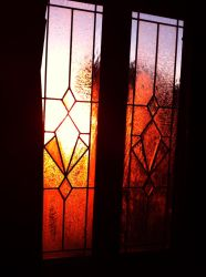 002 - Stained Glass Sunrise by GoddessOfImmaturity