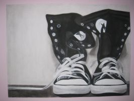 Charcoal shoes by myheartrulesme