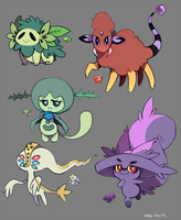Pokemon fusion sketches 02 by Sony-Shock