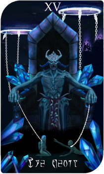 Daedra Tarot Cards - Molag Bal, The Devil by AredheelMahariel