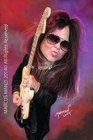 Yngwie Malmsteen Caricature by Marmanillustrator