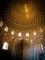 Interior of Sheikh Lotf Allah Mosque Dome by Atarod