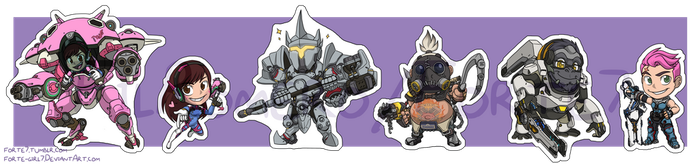 Stickers: Overwatch Set 3 by forte-girl7