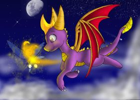 Spyro - Night Flight by pikachu-25