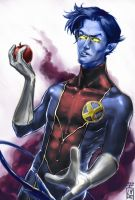 Here, have an apple by Larbesta