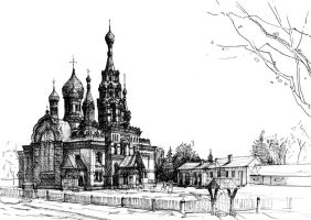 Russian orthodox church by KrystianWozniak