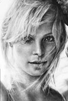 Charlize Theron Close Up by Blacleria