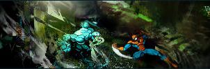 Venom vs Spidey by Re-fund
