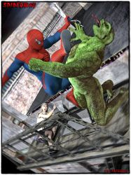Roof Top Spidey by MrSynnerster