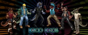 Disco Dinos: Mesozoic Macho Men by DragonosX
