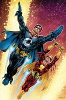Nightwing and Flamebird by MarkHRoberts