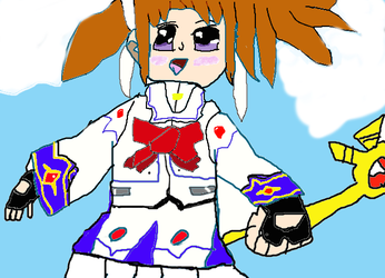 my Drawing  Nanoha Takamachi by Chrisb1001