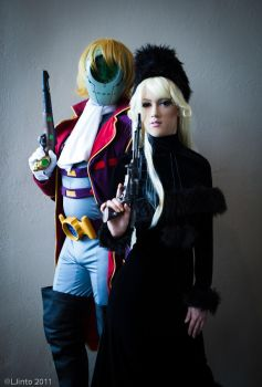 Maetel and Count Mecha by RuffleButtCosplay