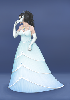 Icy Winter Masquerade by LauraWolfeArt