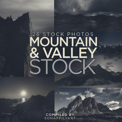Mountain and Valley Stock 002 by sohappilyart