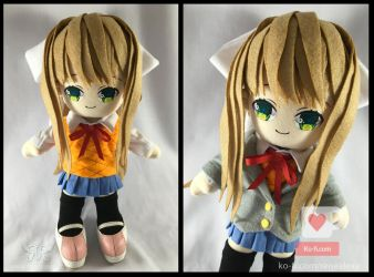 Monika - Doki Doki Literature Club Plushie by renealexa-plushie