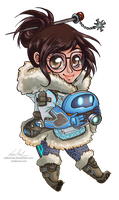 Chibi Overwatch :: Mei by Nadiaxel