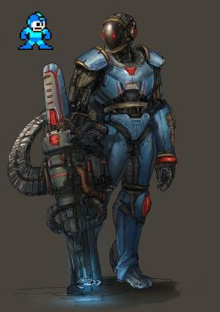 Megaman Redesign by yongs