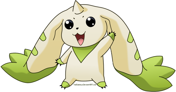 Free Terriermon Digimon Vector by Emerald-Stock