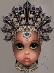 Akasha, Queen of the Damned (BITTY BADDIES) by jodyparmann