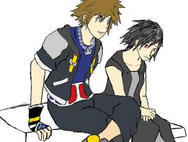 Sora and Vitt for ChochoYatori by 13thprotector