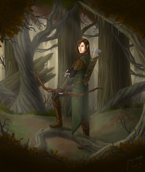 Anoriel the Hunter by Draethius