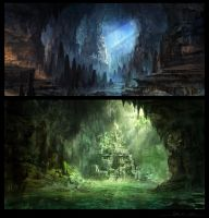 The Majestic Caves by Eru17